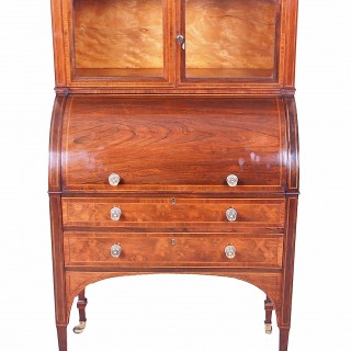 Antique Georgian Rosewood Cylinder Desk Bureau