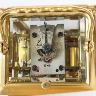 Gilded striking repeating Gorge Carriage Clock