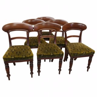 Set of 6 Victorian Mahogany Chairs