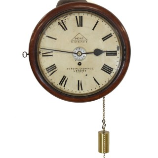 English Alarm Dial Clock, by Dent of London