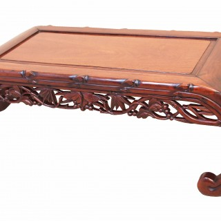 Antique 19th Century Oriental Hardwood Opium Coffee Table