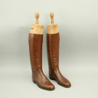 Peal & Co. Riding Boots with Trees in Brown Leather