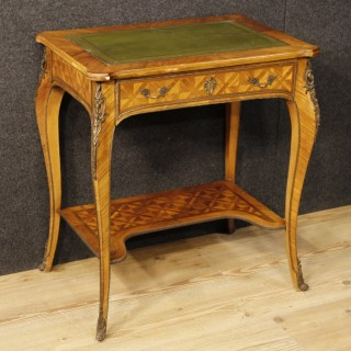 20th Century French Inlaid Writing Table In Louis XV Style