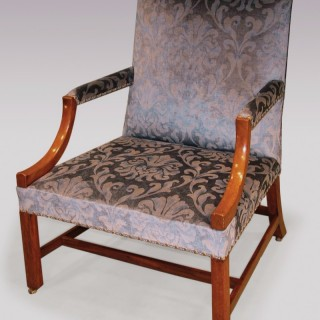 Mid 18th Century mahogany Gainsborough Armchair.