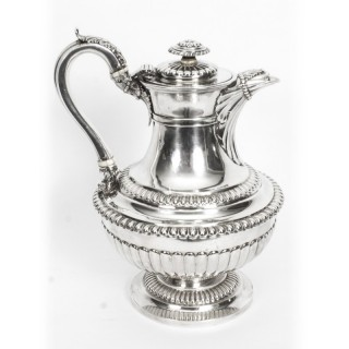 Antique Sterling Silver Ewer Jug Coffee pot Emes & Barnard, 1818