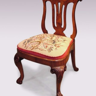 Mid-18th Century Chinese Huanghuali wood Side Chair.