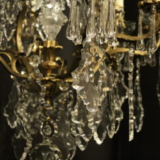 French Pair Of Gilded Bronze Antique Chandeliers