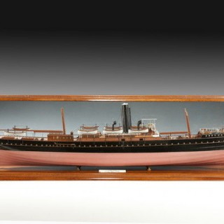 Shipbuilder's cased model of the SS Fusilier