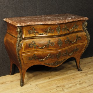 20th Century French Chest Of Drawers With Marble Top In Louis XV Style