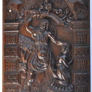 Flemish oak Panel of The Sacrifice of Isaac