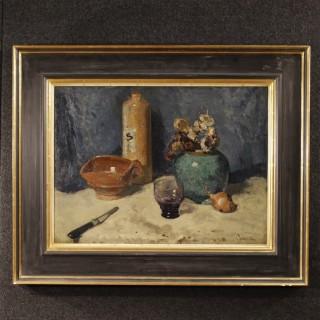 20th Century Dutch Still Life Signed Painting