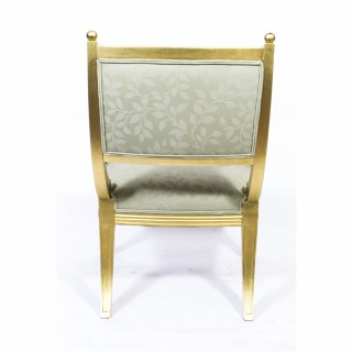 Antique Early 20th Century Regency Style Giltwood Armchair
