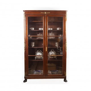 Antique French 2nd Empire Mahogany Bookcase c.1880