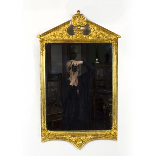 Antique George II Style Gilded Wall Mirror Circa 1870 102 x 60cm