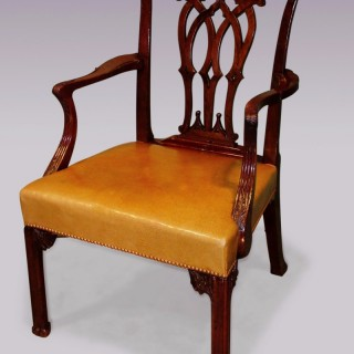 An Antique Chippendale period mahogany Armchair.