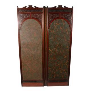 Victorian Four Fold Screen