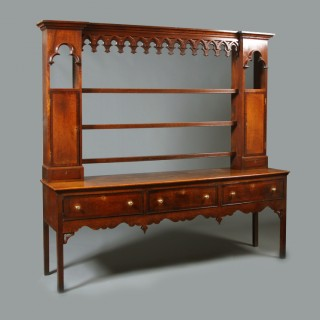 Oak Gothic influenced dresser