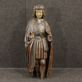 20th Century French Religious Painted Sculpture