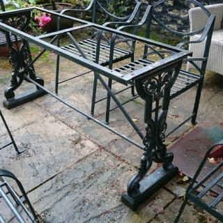 19th Century Victorian Antique Cast Iron Table