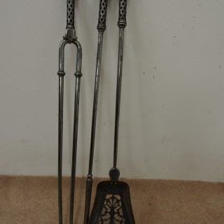 Set of 3 Steel Fire Irons