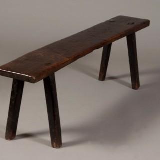 Welsh oak bench