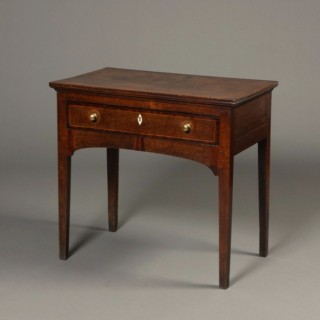 Inlaid Welsh oak side table