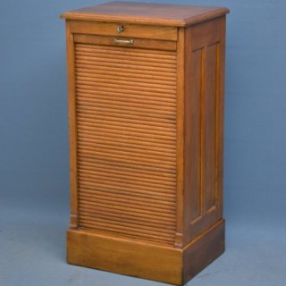 An Oak Tambour Filing Cabinet