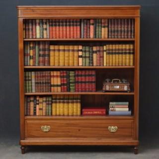 XIXth Century Open Bookcase in Mahogany