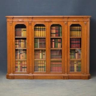 Victorian Oak Bookcase