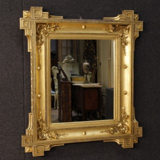 19th Century French Golden Mirror