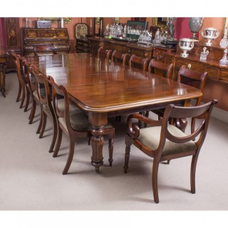 dining table 10 chairs. antique d end mahogany dining table \u0026 10 chairs