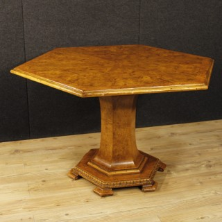 20th Century Dutch Table In Burl