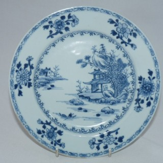 Nanking Cargo Blue and White Plate