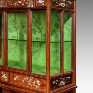 An English Victorian exhibition quality cabinet in the Orientalist Style