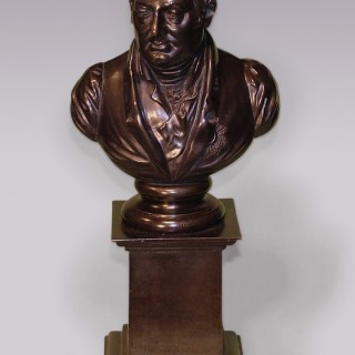 A mid 19th Century bronze bust of the Duke of Cambridge.