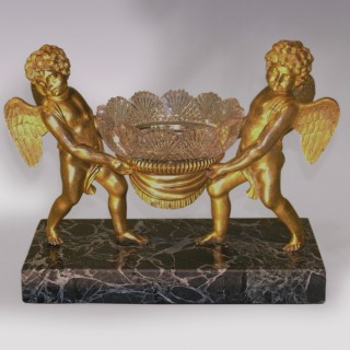 An attractive 19th Century French ormolu, marble and glass Bowl.