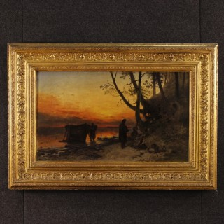19th Century Signed Landscape Painting