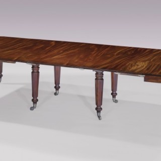 A William IV period mahogany extending Dining Table