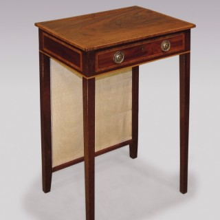 A George III period mahogany Lamp Table.