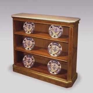 A set of Regency period Amboyna and Giltwood Open Bookshelves.