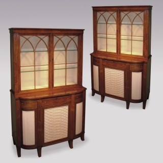 A near pair of early 19th Century Regency period Bookcases.