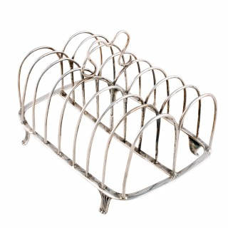 18th Century Georgian Silver Toast Rack