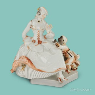 Meissen Rare Art Deco Group by Paul Scheurich, Urstück No. 4 of 11, c.1921
