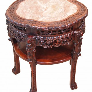Antique 19th Century Oriental Hardwood Table