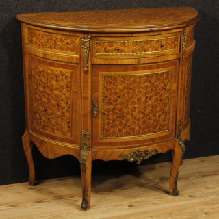 20th Century French Inlaid Demilune Sideboard