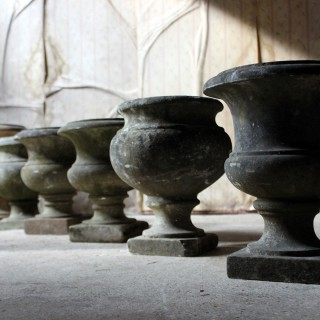 A Superb Group Of Seven Early 20thC Classical Marble Campagna Urns c.1900-25