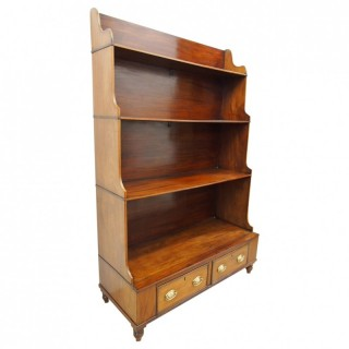 Regency Mahogany Waterfall Bookcase