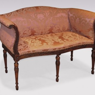 An unusual Adam period carved mahogany Window Seat.