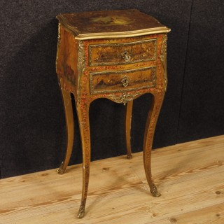 20th Century French Lacquered, Painted, Gilt, Side Table