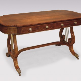 Regency period rosewood Writing Table.